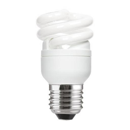 GE 8W T2 Heliax E27 Spiral Cpt Flres Bulb Screw Fit 430lm EEC-A Daylight Ref85634 *Up to 10 Day Leadtime*