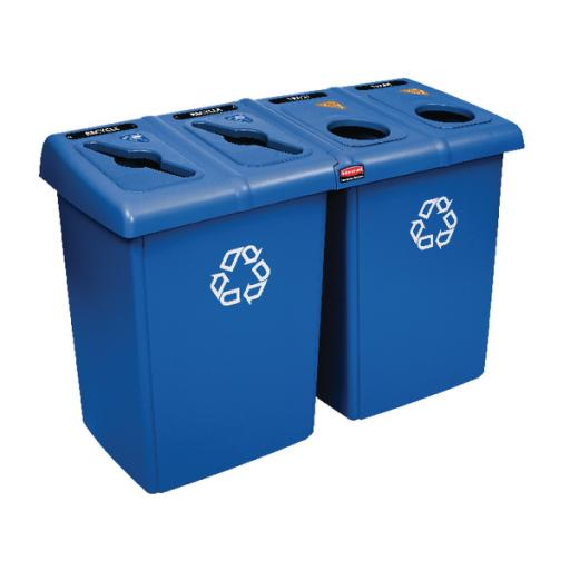 Rubbermaid Glutton Recycling Station Blue 1792372
