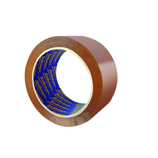 Sellotape Vinyl Case Sealing Tape 50mmx66m Brown Pk6 Buy 3 Get 1 Free SE810840