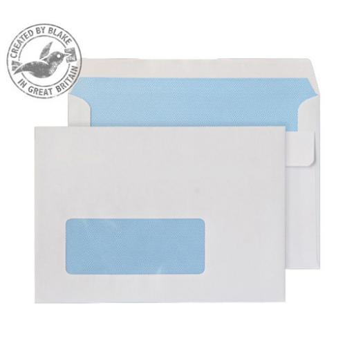 Purely Everyday Wallet Self Seal Window 90gsm C6 114x162mm White Ref 2603W Pk1000