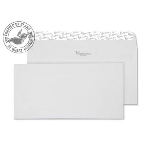 Blake Premium Envelope Wallet P&S Wove Finish High White DL [Pack 500] Ref 35882 [3 For 2] Apr-Jun 2018