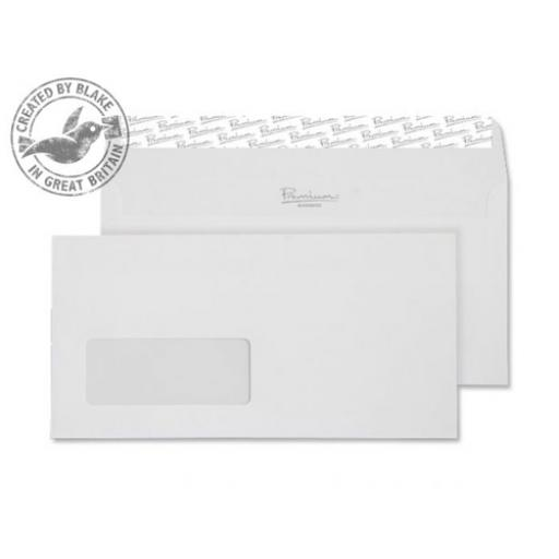 Blake Premium Envelope Wallet Window DL Peel & Seal White Ref 35884 [Pack 500] [Free Paper] Jan-Mar 2018