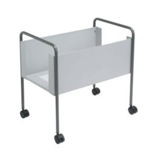 Helix Suspension Filing Trolley for 100 Foolscap Suspension Files W420xD640xH630mm Steel