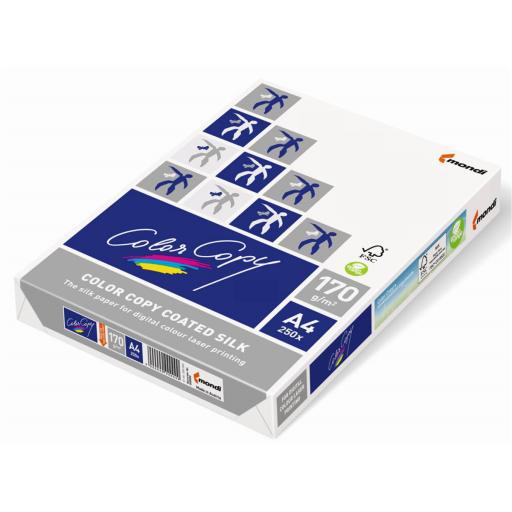 Color Copy Card Premium Coated Silk A4 170gsm FSC White Ref CCS0170 [250 Sheets]