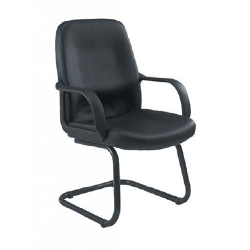 Canasta Leather-Look Visitor Chair