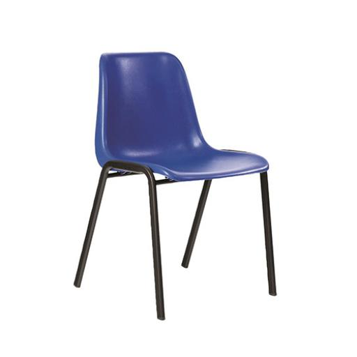 Trexus Stylish Stacking Chair Polypropylene (Blue)