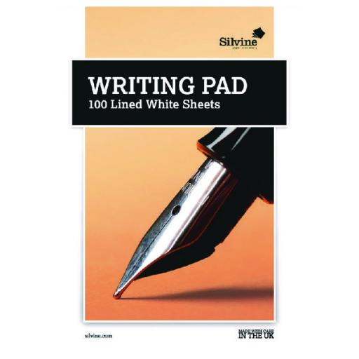 Medium Writing Pad Ruled 100 Sheet (Pack of 10) 1720