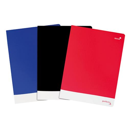 Silvine Soft Touch Perfecto Notebook 75gsm Ruled and Perforated 160pp A4+ Assorted Ref PERA4RBBST[Pack 6]
