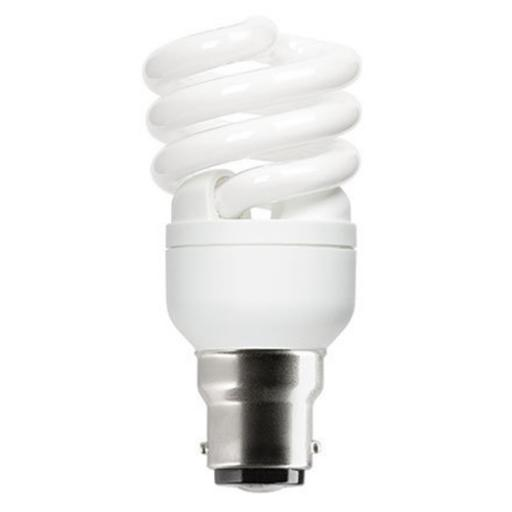 GE 12W T2 Heliax B22d Spiral Cpt Flres Bulb Bayonet 715lm EEC-A ExtWrmWht Ref85641 *Up to 10Day Leadtime*