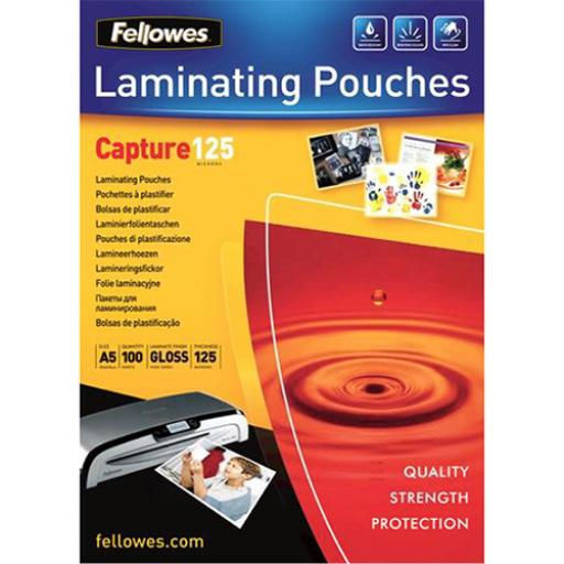 Fellowes Laminating Pouches 250 Micron for A5 Ref 5307301 [Pack 100]