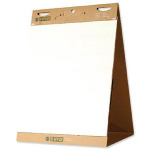 Bi-Office Earth-it Flipchart Easel Pad Self Stick 635x762mm Ref FL1217507 [Pack 2]
