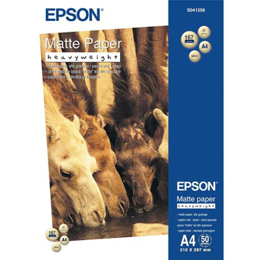 Epson Matte Paper 167gsm A4 White C13S041256 [50 sheets]