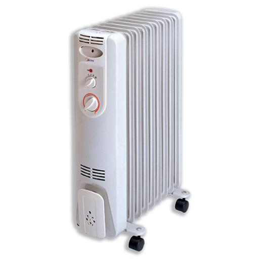5 Star Facilities 9 Fin Oil Filled Radiator for Up to 20m.sq room 2kW