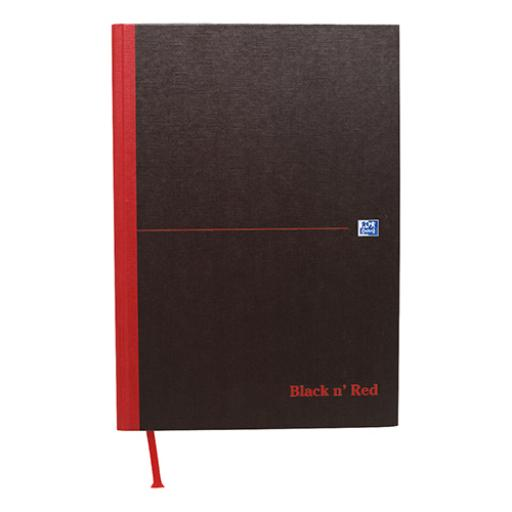 Black n Red Notebook Casebound 90gsm Ruled Indexed A-Z 192pp A4 Ref 100080432 [Pack 5]