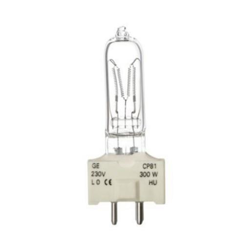 GE 300W Single Ended Halogen GY9.5 Showbiz Bulb 6900lm Dimmable EEC-D Ref88444 *Up to 10 Day Leadtime*