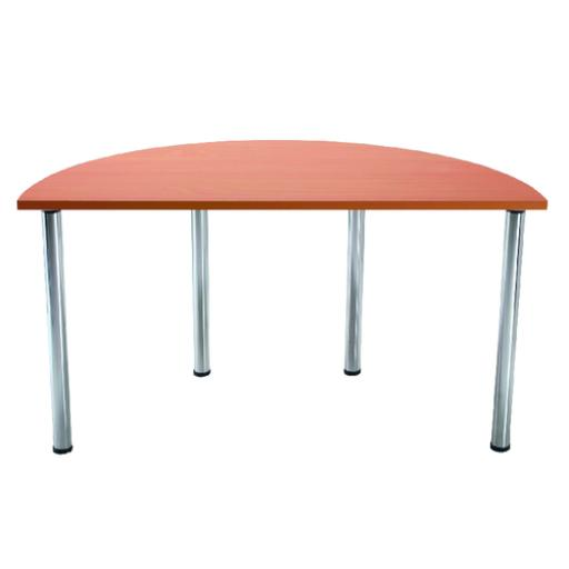 Jemini Beech Semi-Circular Meeting Room Table Folding Leg KF838578