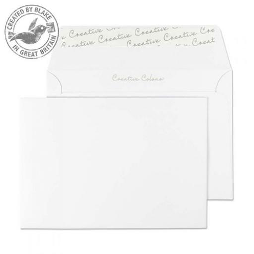 Blake Creative Colour C6 Wallet Peel&Seal 120gsm Ice White Ref 150 [Pack 500]