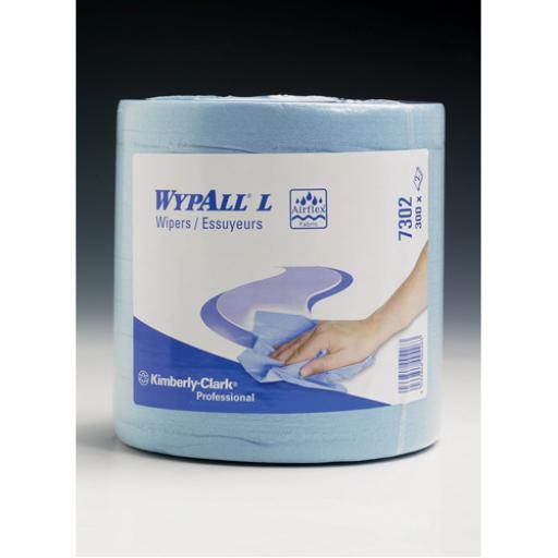 Wypall Wipers Centrefeed Roll 2-Ply Blue 7302