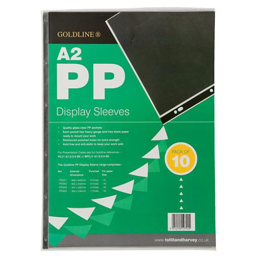 Display Sleeves Polypropylene Reinforced 150 Micron 6 Hole A2 Clear [Pack 10]