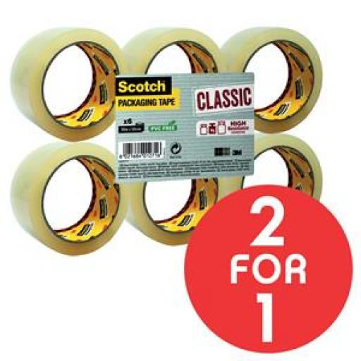 BP Scotch Pkg Tape Clr PK6 BOGOF OCT1/17