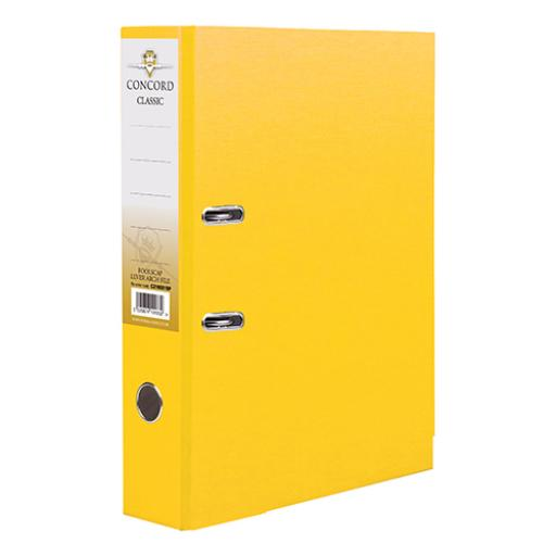 Concord Classic Lever Arch File Capacity 70mm A4 Yellow Ref C214043 [Pack 10]