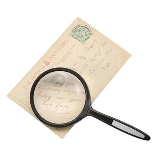 5 Star Facilities Round Magnifier 2x Main Magnification 4x Window Magnification Diam.61mm