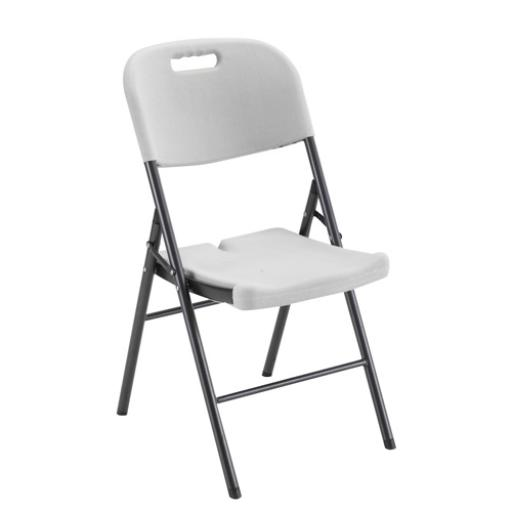 Jemini Folding Chair White Floor Standing Screen Including Feet KF72332