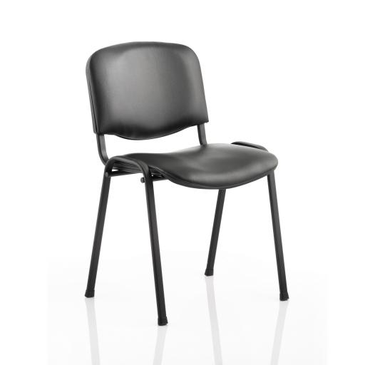 Trexus ISO Stacking Chair Without Arms Black Vinyl Black Frame Ref BR000062