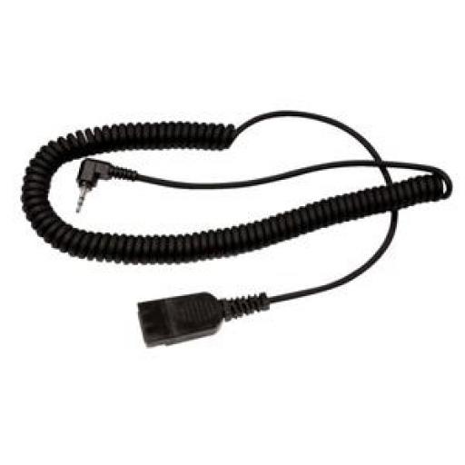 Radius BL06 QD To 2.5mm Connection Lead (Black) for Radius Headsets