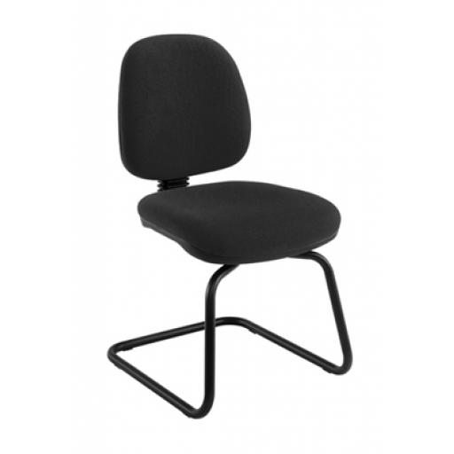 Zoom Visitor Chair Charcoal