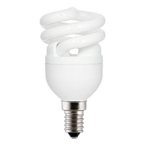 GE 8W T2 Heliax E14 Spiral Cpt Flres Bulb Screw Fit 470lm EEC-A ExtWrmWht Ref85637 *Up to 10Day Leadtime*