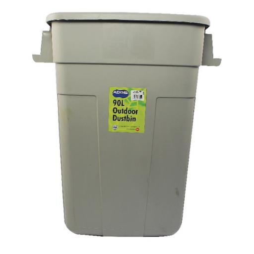 Addis Grey 90 Litre Rectangular Dustbin Base 510894