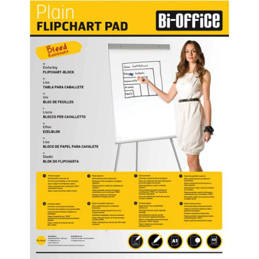 Bi-Office White A1 Plain Flipchart Pads (Pack of 5) FL010101