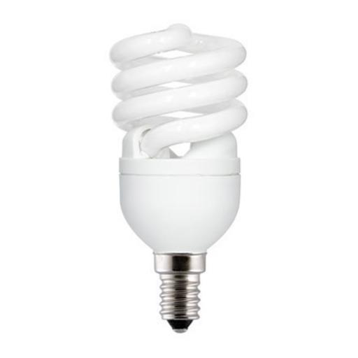 GE 12W T2 Heliax E14 Spiral Cpt Flres Bulb Screw Fit 715lm EEC-A ExtWrmWht Ref85639 *Upto 10Day Leadtime*