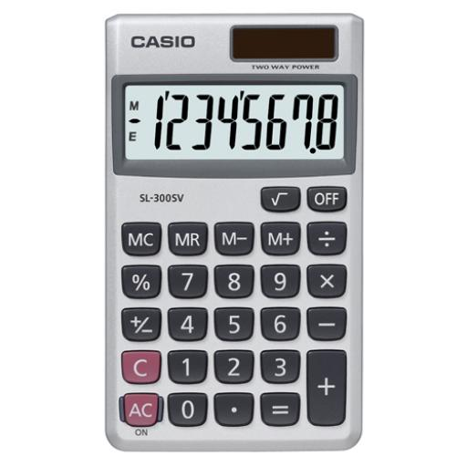 Casio Pocket Calculator 8-Digit SL-300V-S-GH