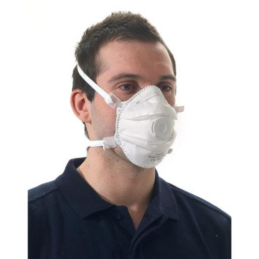 KeepSafe FFP3 Disposable Valved Respiratory Mask (White) Pack of 5 Ref 290035