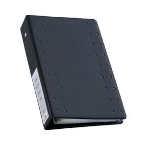 Durable CD Index Ring Binder (Charcoal) with 10 Polypropylene Wallets