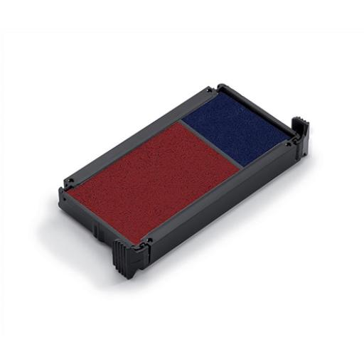 Trodat Office Printy Replacement Ink Pad 6/4912/2 Red/Blue Ref 83541 [Pack 2]
