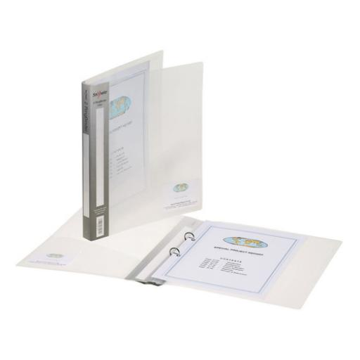 Snopake 2 Ring Binder A5 15mm Clear (Pack of 10) 10108