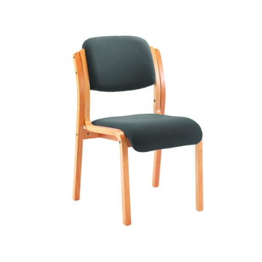 First Wood Reception Side Chair No Arms Charcoal KF78931