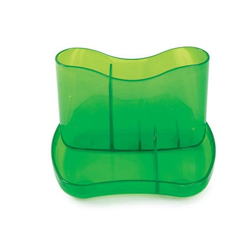 Desk Organiser 4 Compartments 93mm High Ice Green