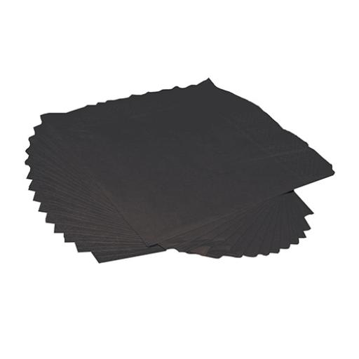 2-Ply (250mm x 250mm) Luxury Cocktail Napkins (Black) Pack of 250