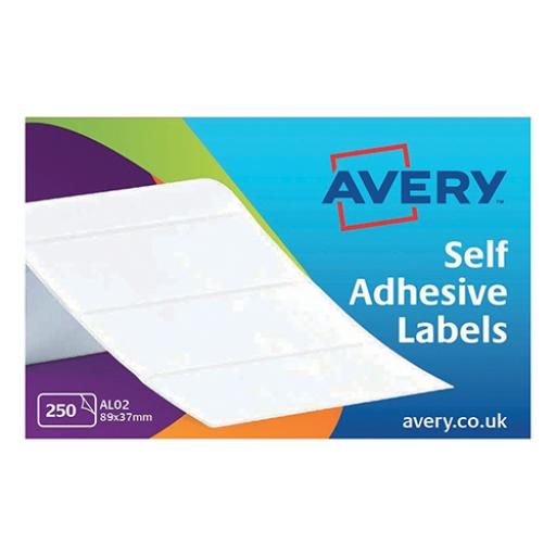Avery AL02 Typewriter Address Labels (89 x 37mm) on a Roll (Pack of 250 Labels)