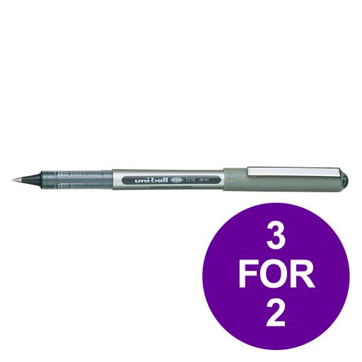 Uni-ball Eye UB157 Rollerball Pen Med Tip 0.7mm Line 0.5mm Black Ref 162446000 [Pack 12] [3 For 2] Jun 19
