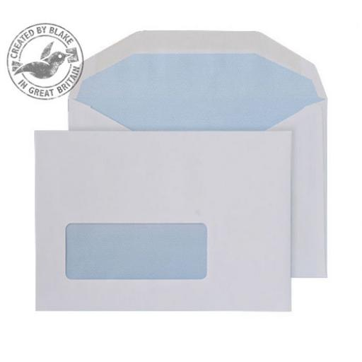 Blake Purely Everyday C6 Mailing Wallet Gummed Window 80gsm White Ref 2601 [Pack1000]