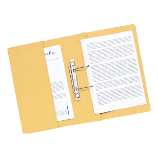 Guildhall Transfer Spring File 420gsm Front Pocket Foolscap Yellow Ref 211/6003Z [Pack 25]