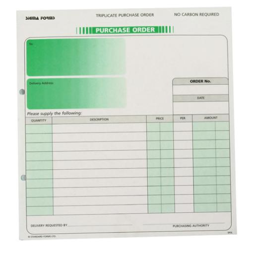 Custom Forms 3-Part Purchase Order (Pack of 50) HCP03