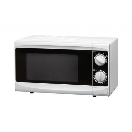 5 Star Facilities Manual Microwave Defrost and 5 Power Levels 800W 20 Litre White *2017 Mailer*