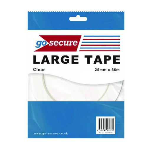 Go Secure Large Tape 25mmx66m (Pack of 24) PB02299