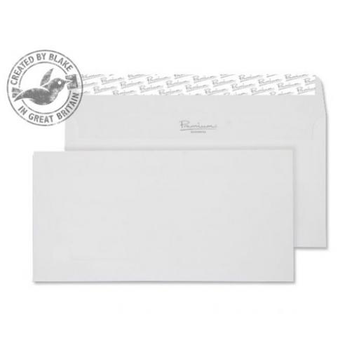 Blake Premium Envelope Wallet DL Wove High White Ref 35882 [Pack 500] [Free Paper] Jan-Mar 2018